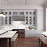 מודל אבן קיסר 5114 Calacatta Maximus במטבח ח' עם אי