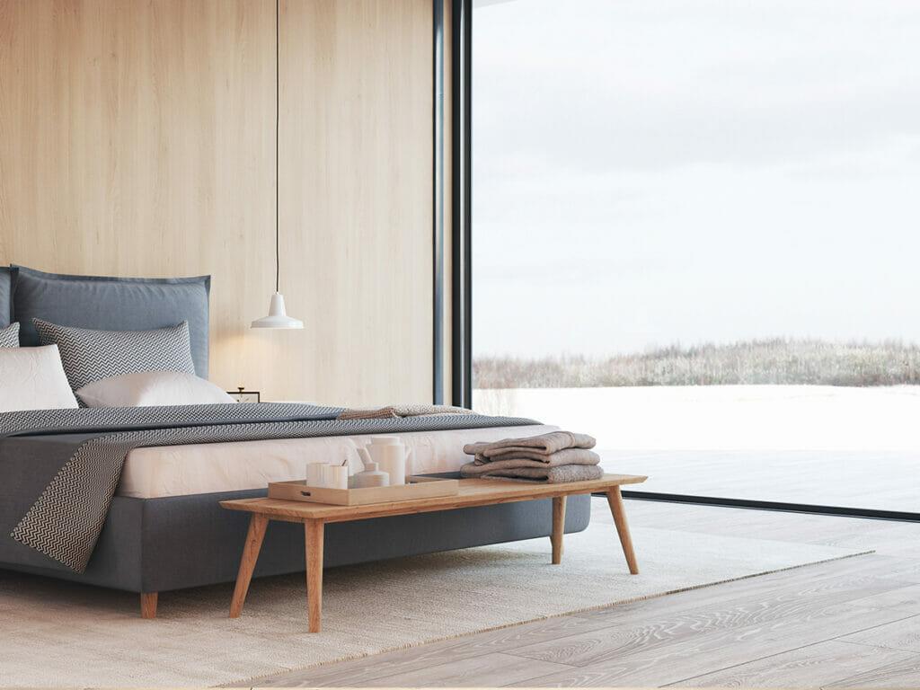 חלל חדר שינה מודרני